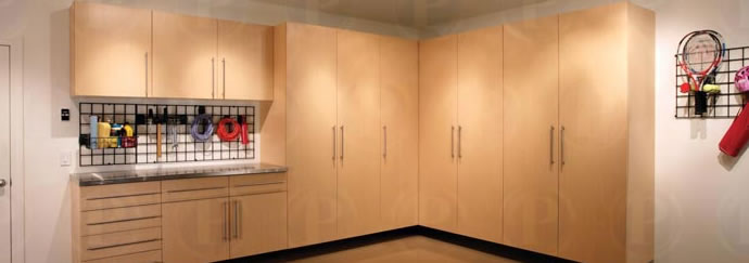 Maple wood garage cabinet storage systems home office