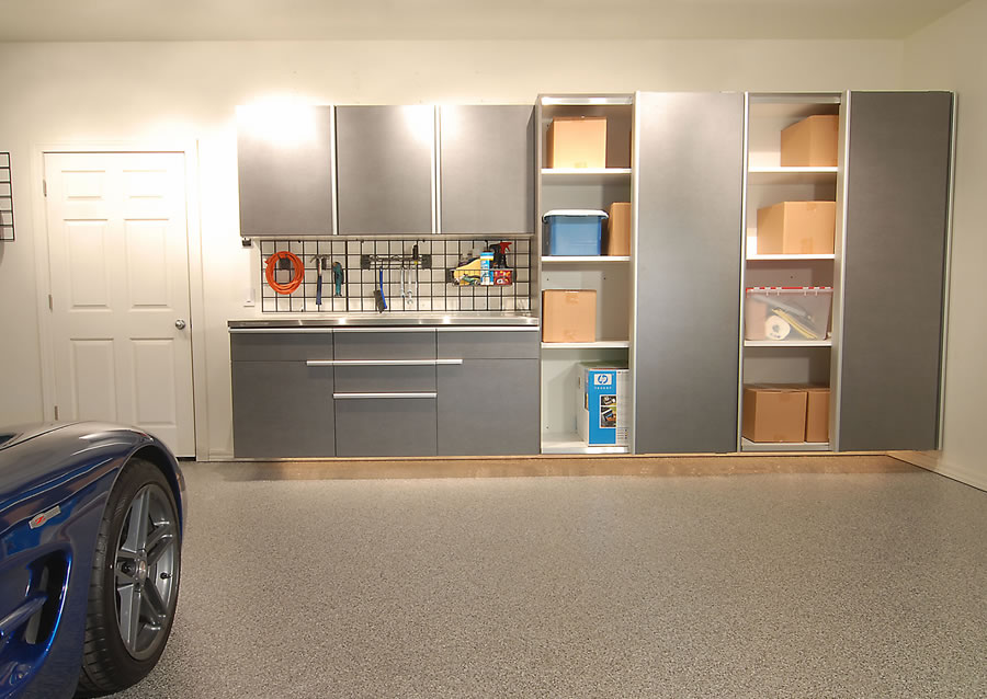 You can mix and match the new sliding doors with our traditional garage cabinets for the perfect arrangement to meet your needs. & Garage Sliding Door Cabinets Space Saving Solutions